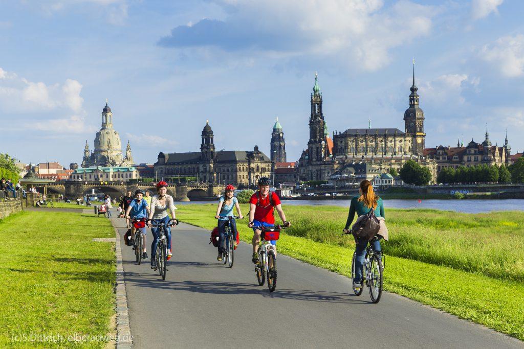 Elberadweg in Dresden